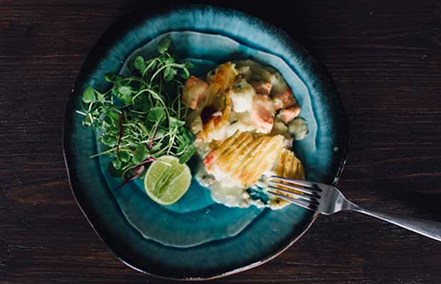 Sachie Nomura's Thai Fish Pie. Photo: Anna Kidman