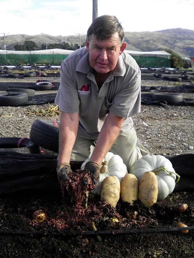 Worm farmer Robbie Dick.