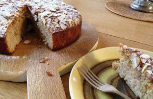 Gluten-free spiced apple cake.