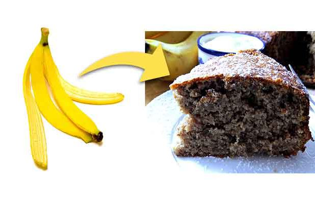Turn this banana peel into cake