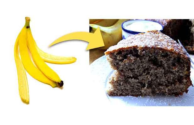 Turn this banana peel into cake
