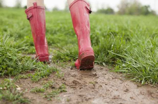gumboots and mud