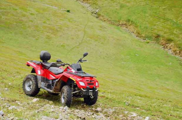 ARV quad bike on a hill