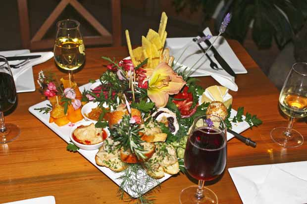 Two Chimney Wine's platters are like visiting a flower show.