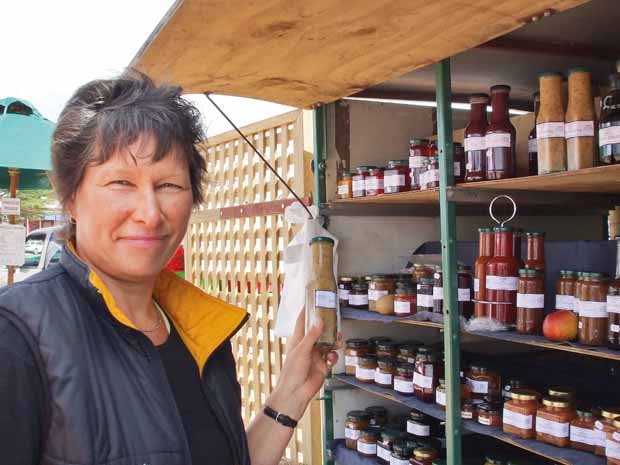 When Marie isn't making or selling her preserves in her store at Sanson, she is selling them at local food markets.