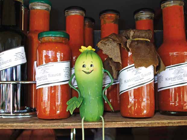 One of Marie's spicier products is kasundi sauce with ginger, chili, tumeric and coriander.