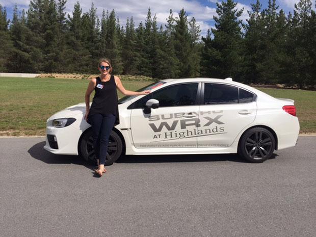 Cheree Morrison races a Subaru WRX
