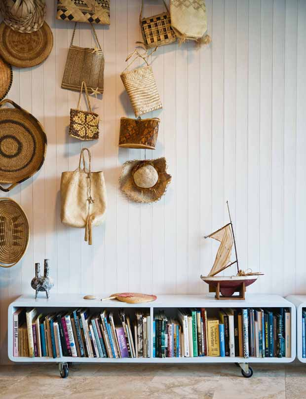 The collection of Polynesian kites was assembled on the couple's many sailing voyages throughout the Pacific Islands. The little sailing boat named Kapiti, was made by Isobel's grandfather for his wee boys to sail on local ponds.