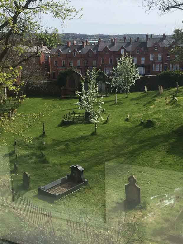 View of the Ulster Cemetery.