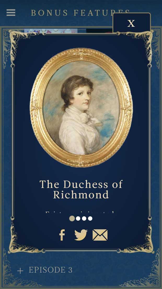 The Duchess of Richmond, one of the more memorable characters.