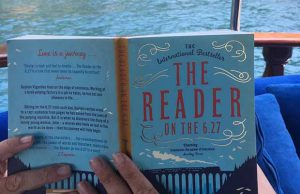 Miranda Spary, hard at work reviewing The Reader on the 6.27.