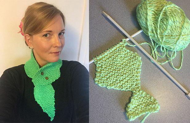 Make this neck gecko scarf.