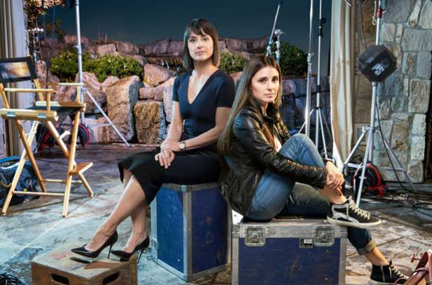 Shiri Appleby and Constance Zimmer in the Lightbox drama, UnREAL.