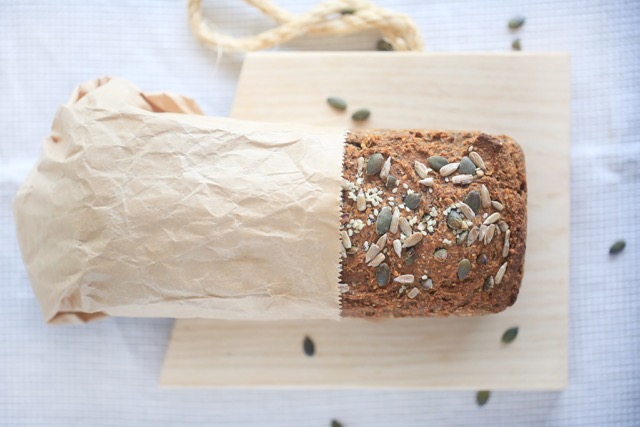 5 SEED SOURDOUGH - the easiest most delicious bread ever! No knead, wheat free, yeast free, dairy free, egg free, sugar free, vegan, healthy, rye bread, begoodorganics 4