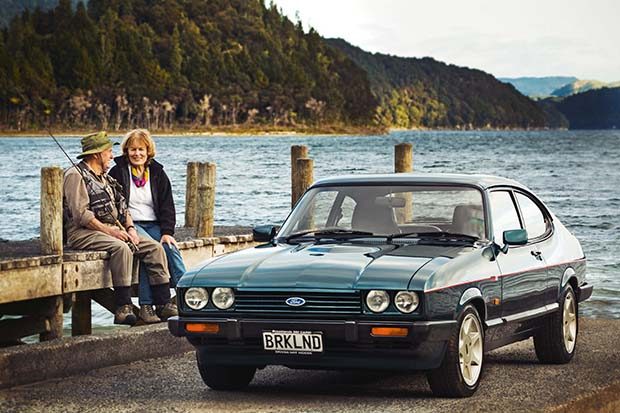 Lindsay and Adele Lyons and their 1974 Mark 1 3.0 Ford Capri.