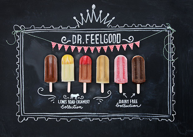 The new range from Dr Feelgood and Lewis Road Creamery
