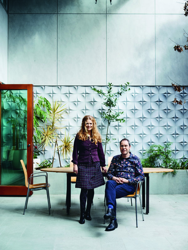 Linley Hindmarsh, Tim Greer: separately and together, a highly successful creative force.