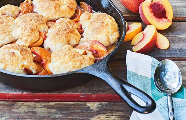 Anthony Hoy Fong's Peach and Bourbon Cobbler is featured in the NZ Life & Leisure special edition  In Your Backyard: Food & Fire.