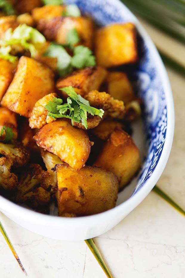 Recipe: Spiced roast potatoes and cauliflower