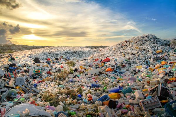 plastic at a rubbish dump