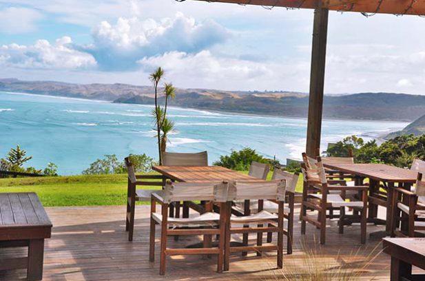 View over Manu Bay.