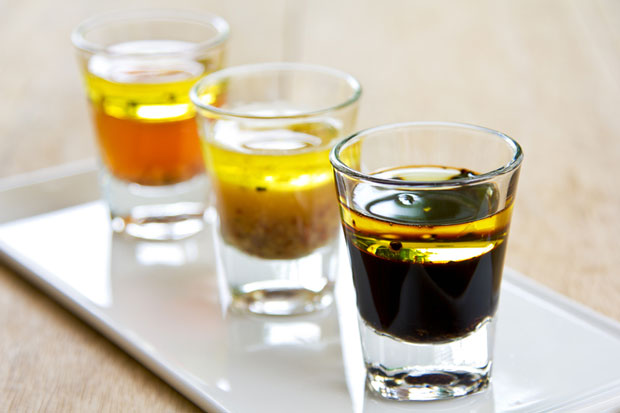 Try presenting salad dressings in a shot glass. Photo: dreamstime.