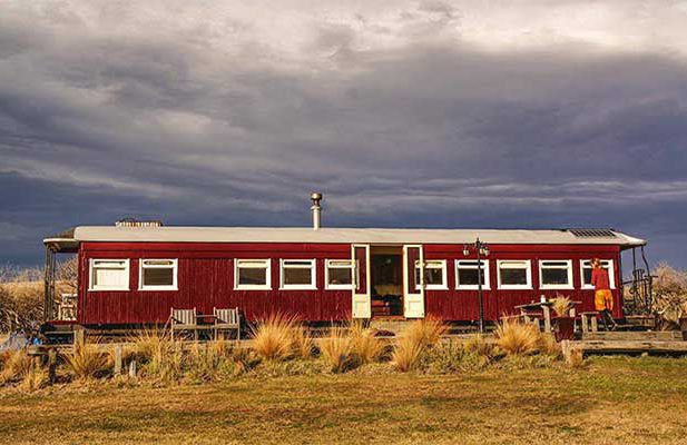 Old railway carriage turned into a home