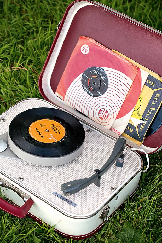 "The 1960s portable record player is ""an exercise in changing the 45s. It's great fun."""