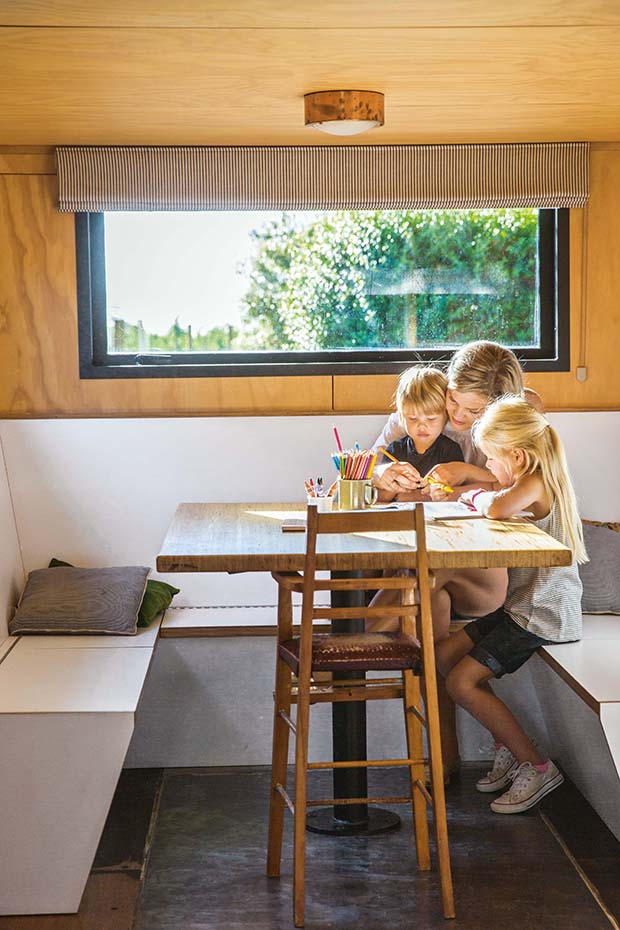 thinking outside the box in a 60sqm container house  in cherry orchard