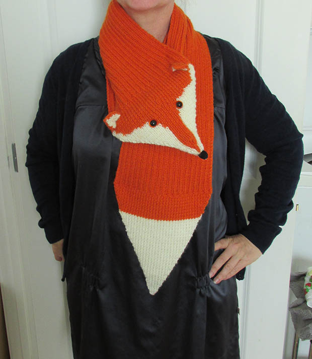 Free knitted fox scarf pattern - thisNZlife