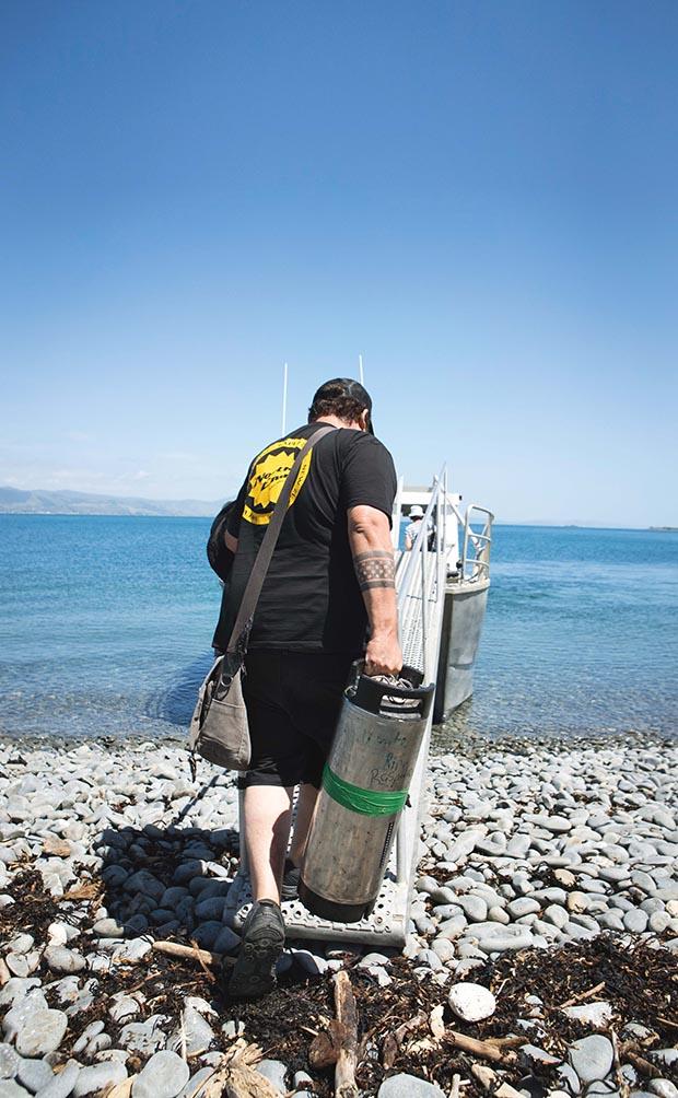 Kieran Haslett- Moore, Kapiti Island, wild beer, salt and wood