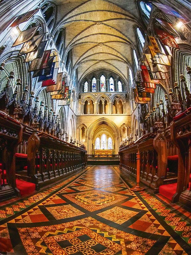 A rich tapestry of patterns and decoration in Christ Church Cathedral Dublin
