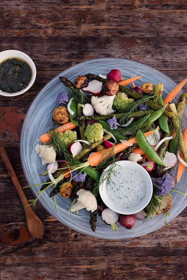 Recipe: Market Vegetables with Buttermilk Ranch & Bagna Càuda