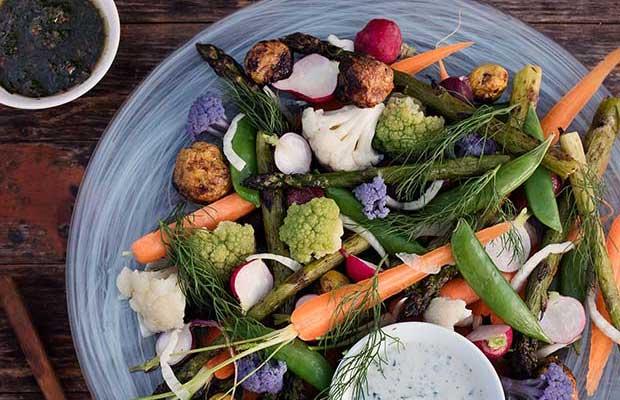 Recipe: Market Vegetables with Buttermilk Ranch & Bagna Càuda