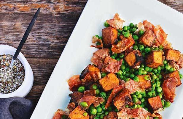 Recipe: Smoked Kumara with Peas & Parma Ham