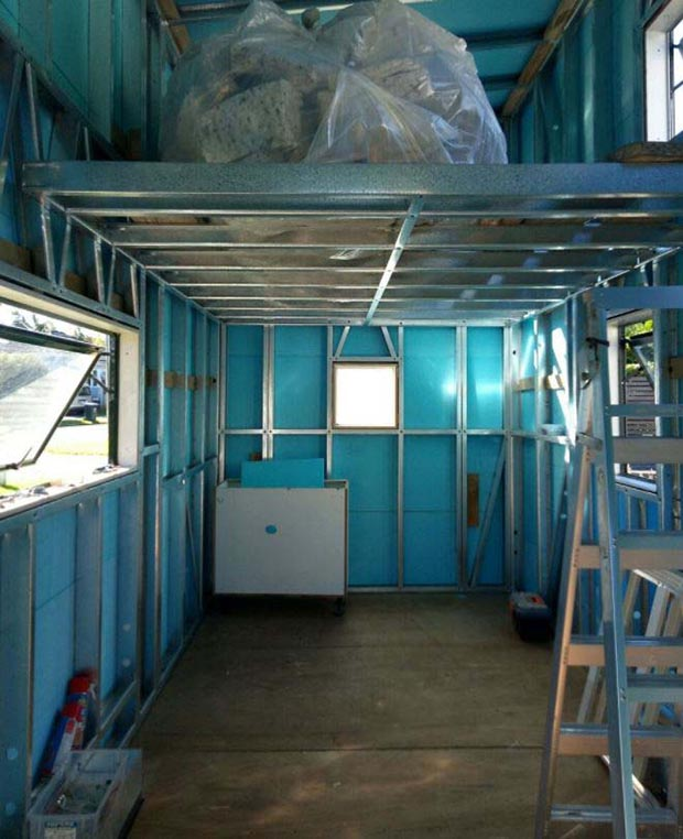 inside of tiny house