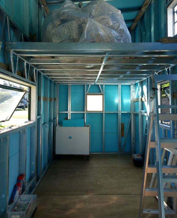 inside of tiny house