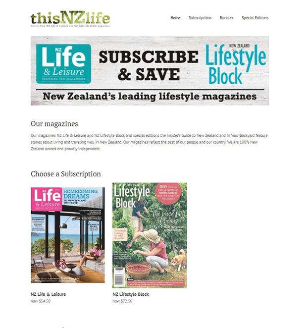 subscribe to NZ Life & Leisure