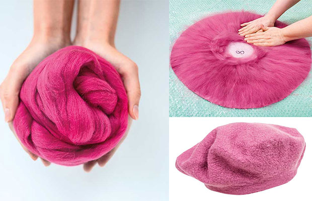 How to make a wet-felted beret - thisNZlife