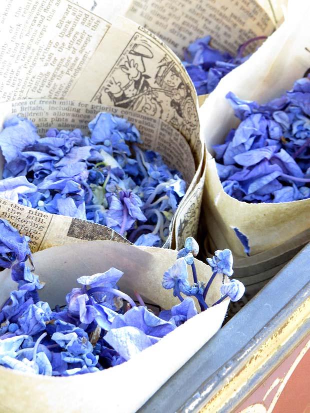 wedding hydrangea flower petals