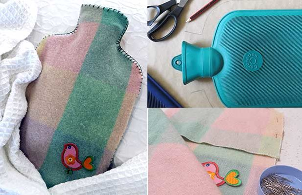 repurpose hot water bottle cover