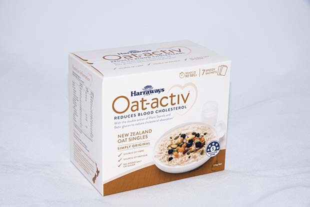 27bf68264b75 Harraways Oat-activ ® offers a natural double action to help lower blood  cholesterol. This new single-serve oat mix works by added plant sterols  combining ...