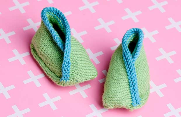 Free Knitting Pattern Cotton Wool Booties For New Zealand Babies In
