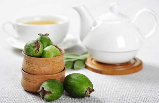 feijoa and tea