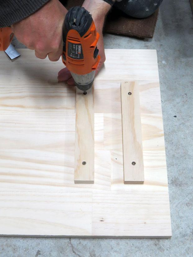 Homemade trestle table