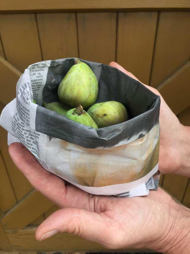origami paper fruit basket (kete)
