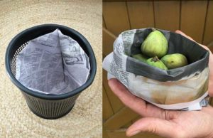 two origami paper basket projects