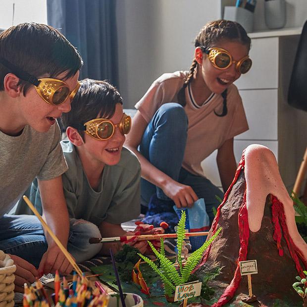 Kid's DIY Project: Make a paper-mache volcano